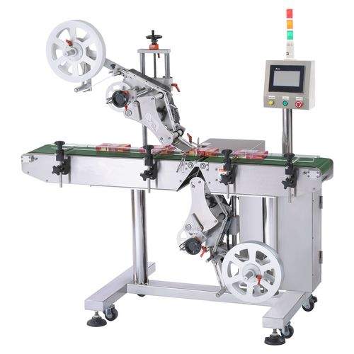 Automatic Label Applicator ~ Automatic top and bottom labeling machine ltb autopack
